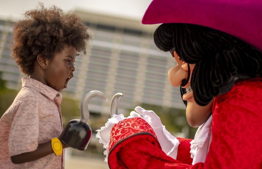 Kids join Captain Hook's Pirate Crew at Walt Disney World Resort