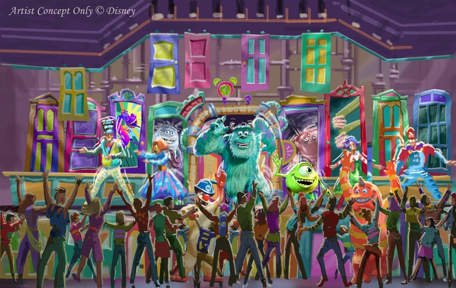 Monsters, Inc. Dance Party rendering