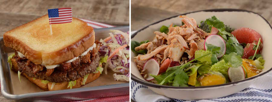 BBQ Dishes from Regal Eagle Smokehouse: Craft Drafts & Barbecue at Epcot