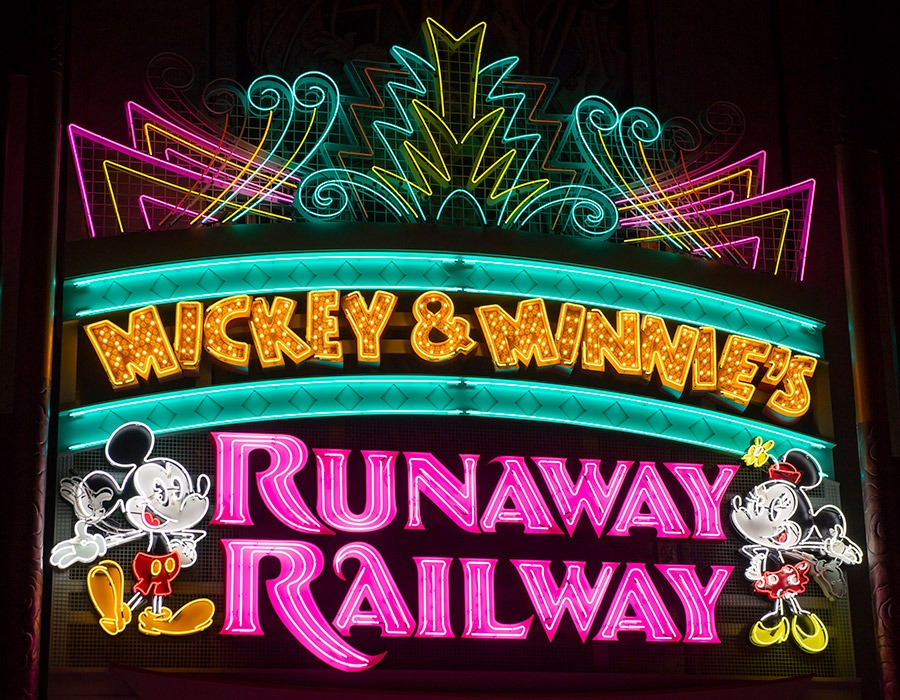 New Marquee for Mickey & Minnie's Runaway Railway at Disney's Hollywood Studios