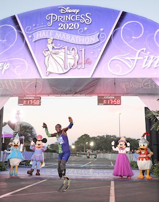 Marko Cheseto at the Disney Princess Half Marathon