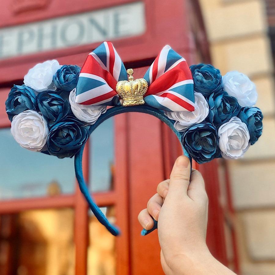 New United Kingdom-Inspired Minnie Ear Headband