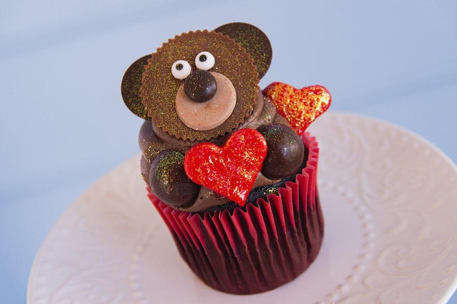 Chocolate Peanut Butter Sweetheart Bear Cupcake from Disney's Yacht & Beach Club Resort