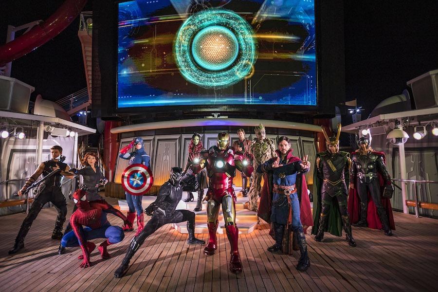 Marvel Heroes on Disney Cruise Line