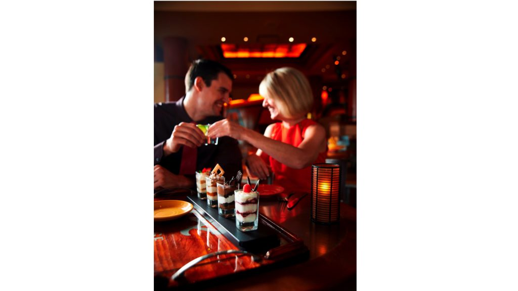 Couple eating at Maya Grill at Disney's Coronado Springs Resort