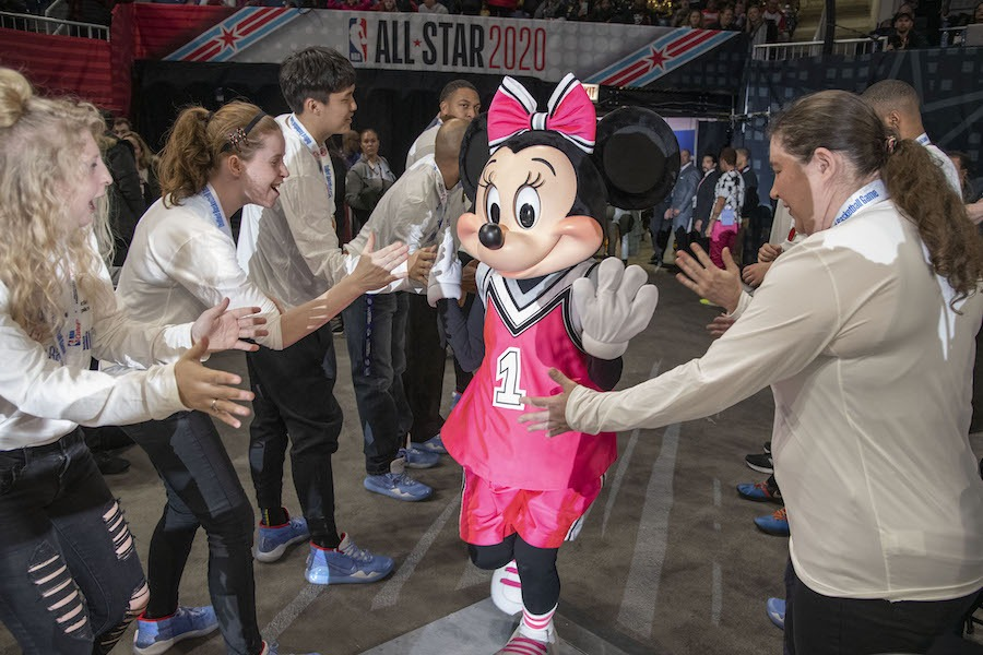 Minnie Mouse at the NBA All-Star 2020 In Chicago