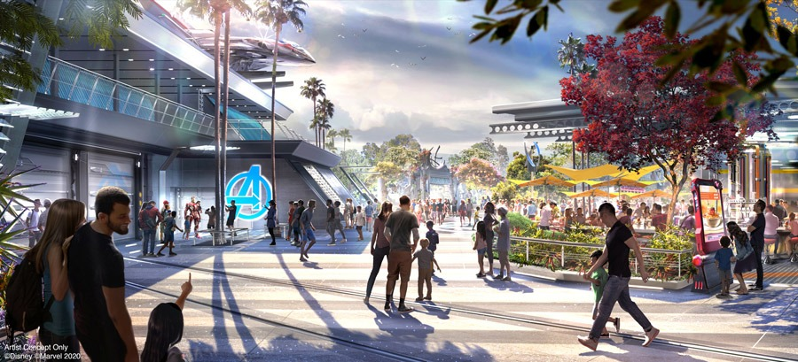 Avengers Campus rendering