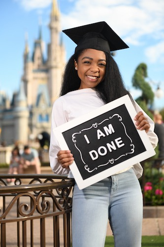 Graduate on a Capture Your Moment Session from Disney PhotoPass