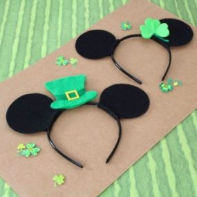 Mickey and Minnie St. Patrick's Day Ears ~ How to! 1