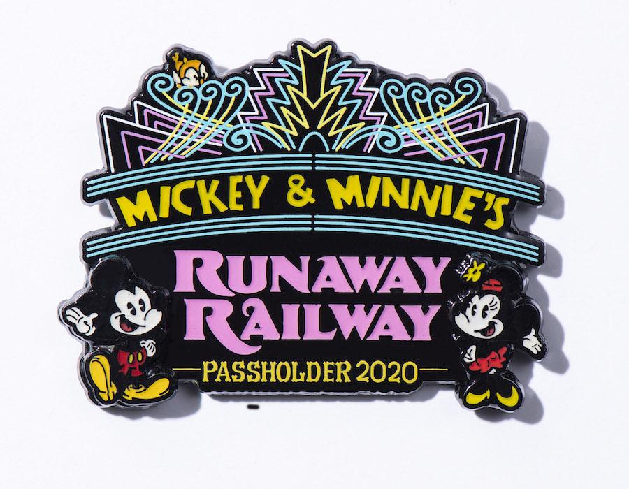 Mickey & Minnie's Runaway Railway Passholder Pin