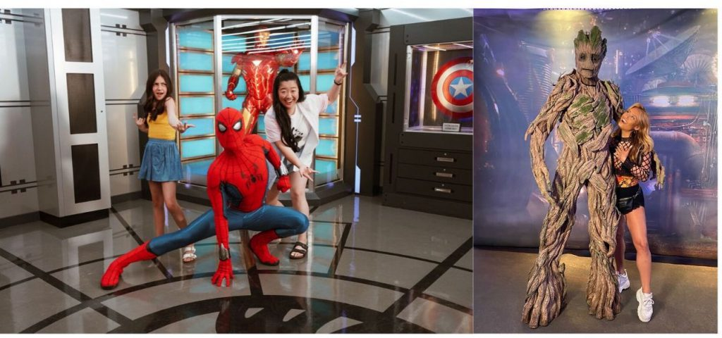 Freeform stars with Spider Man and Groot