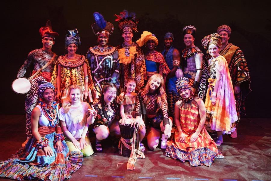 Freeform stars with the Walt Disney Theater cast