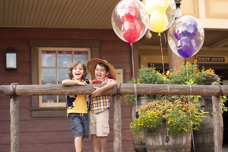 Two boys in Magic Kingdom Park