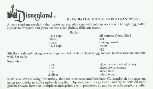 Make Your Own Blue Bayou Monte Cristo Sandwich #D23 3
