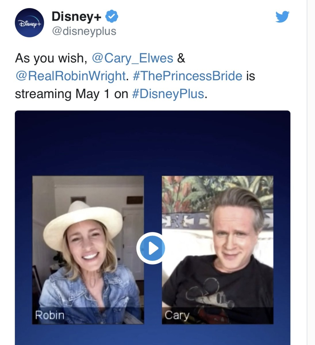 """""""The Princess Bride"""" Coming to Disney+ on May 1st 1"""