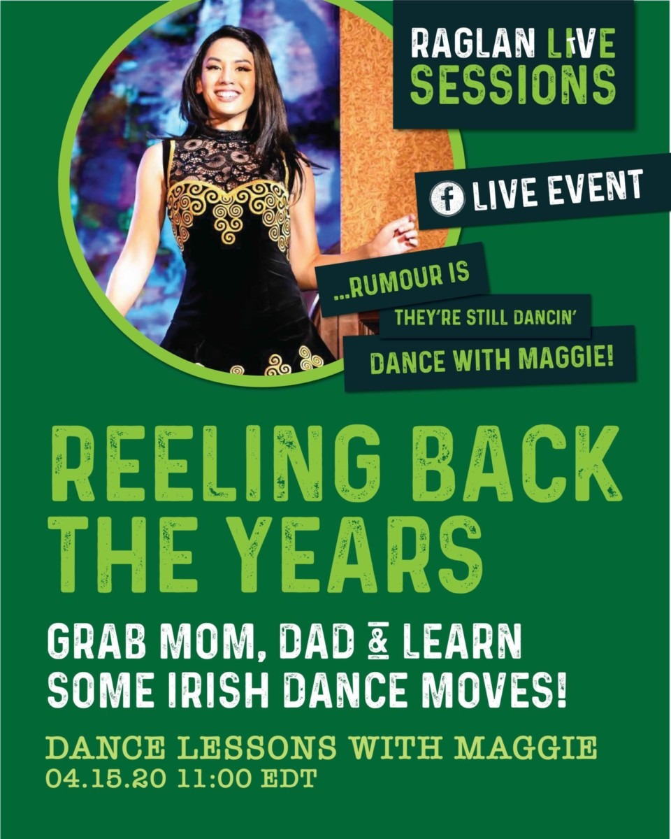Raglan Road pro Irish dancer teaches Irish dance on Facebook LIVE Tomorrow! 2
