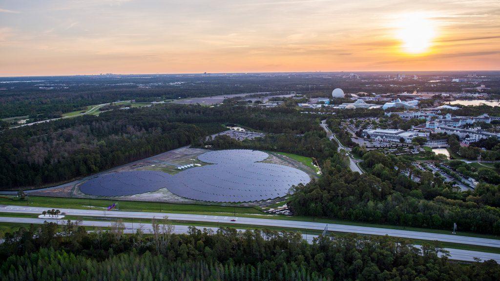 Solar panels at Walt Disney World Resort