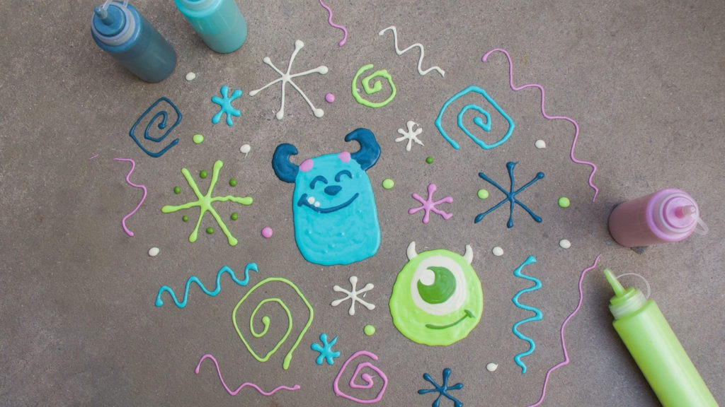 How to Make Your Own Mike & Sulley Sidewalk Art 1