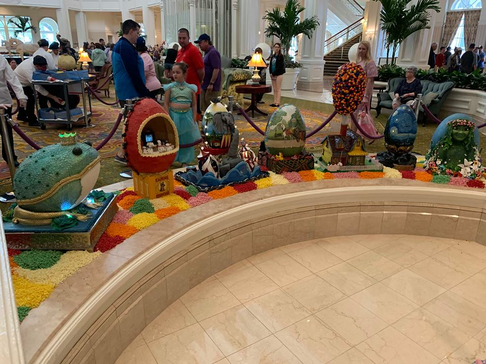 Missing the Chocolate Easter Egg Display at Disney's Grand Floridian Resort! 2