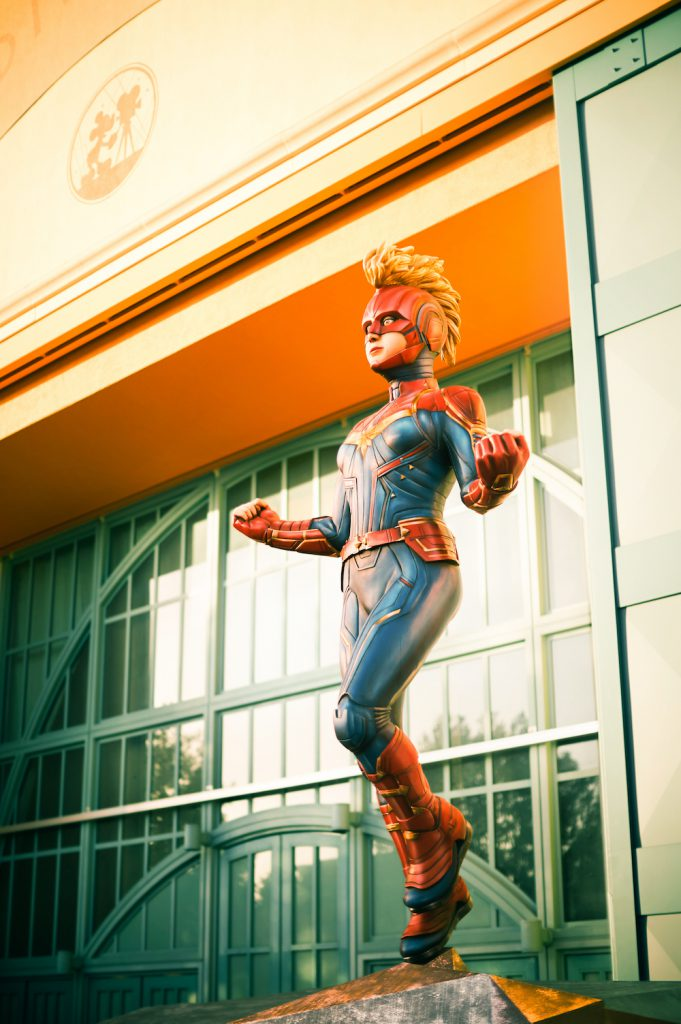 Captain Marvel at Walt Disney Studios Park at Disneyland Paris