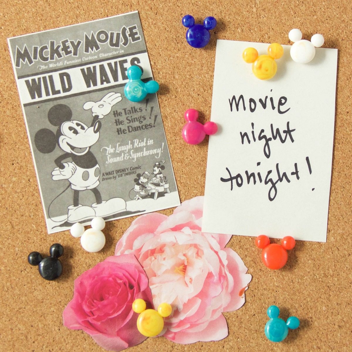 DIY Mickey Mouse Hot Glue Push Pins! 1