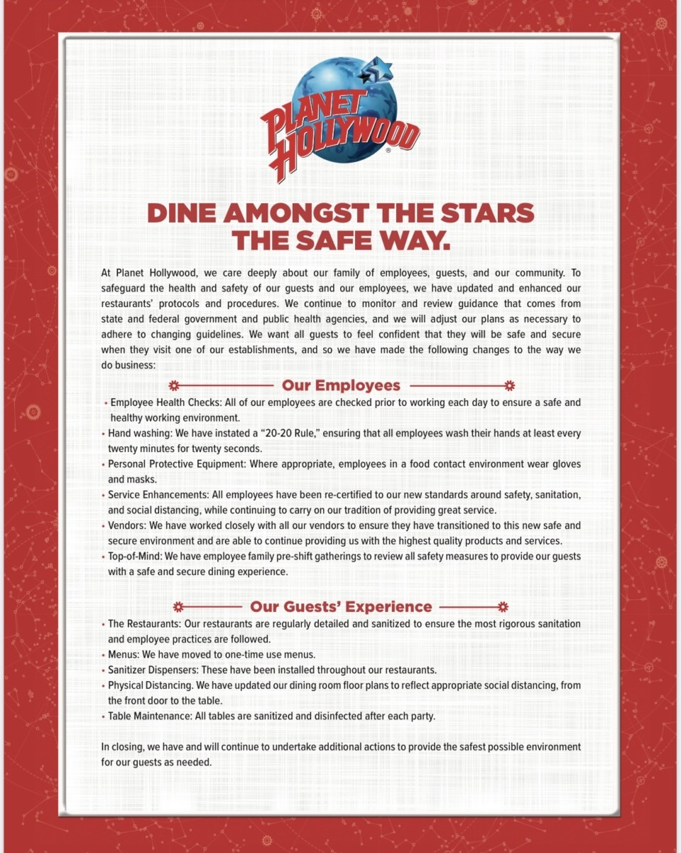 More Restaurant and Safety Info for Disney Springs 1