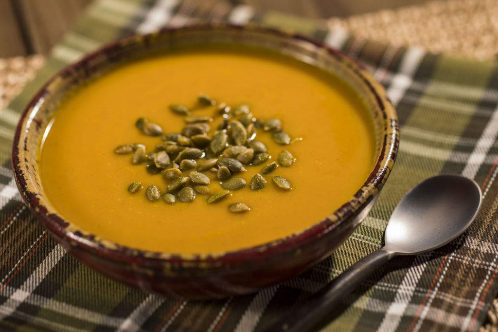 Halfway to Halloween Vegan Pumpkin Soup from Disney Parks