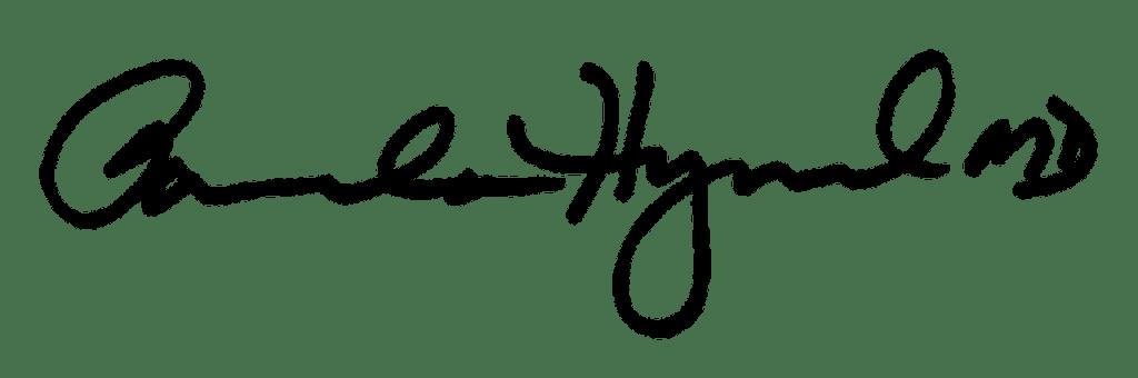 signature of Dr. Pamela Hymel