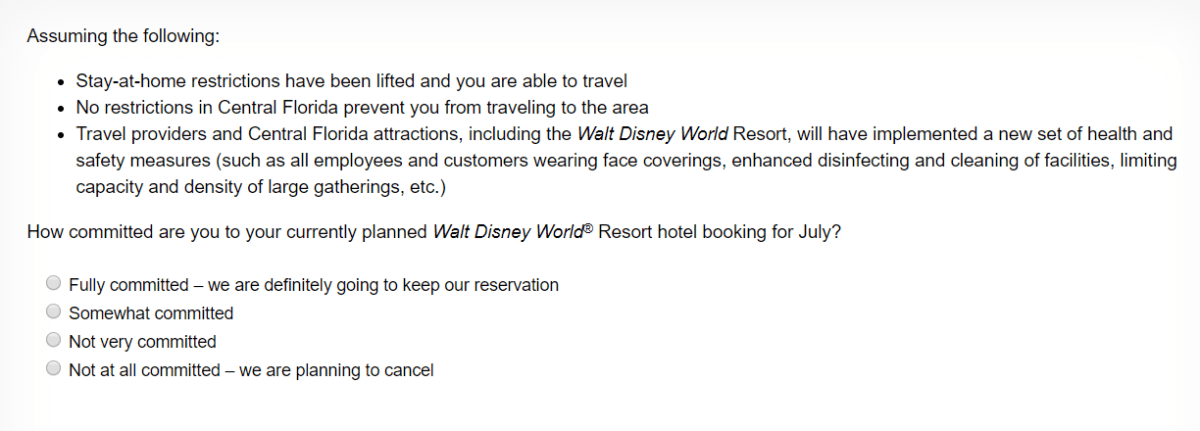 New Survey Being Sent to Guests with Upcoming Disney Resort Reservations 1
