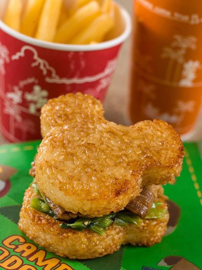 Mickey-shaped Rice Ball sandwich