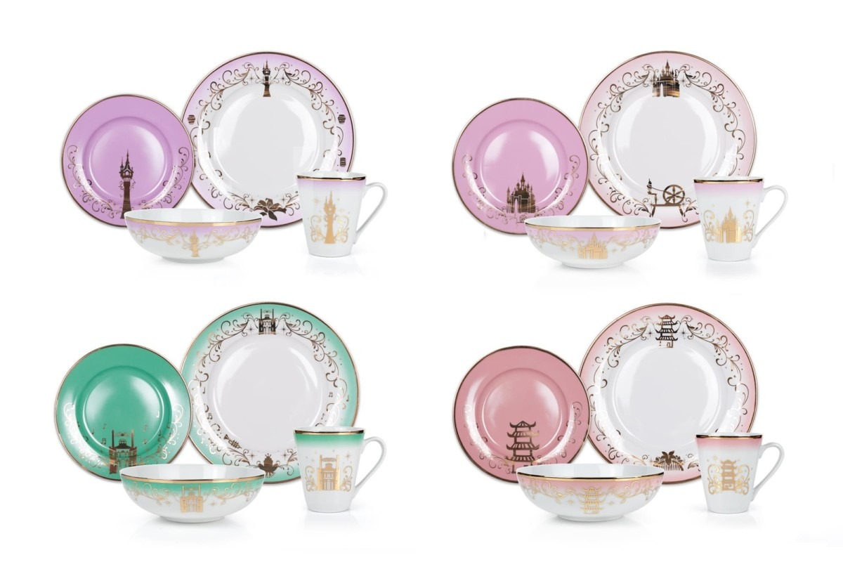 The Disney Princess Dinnerware Collection From Toynk 1