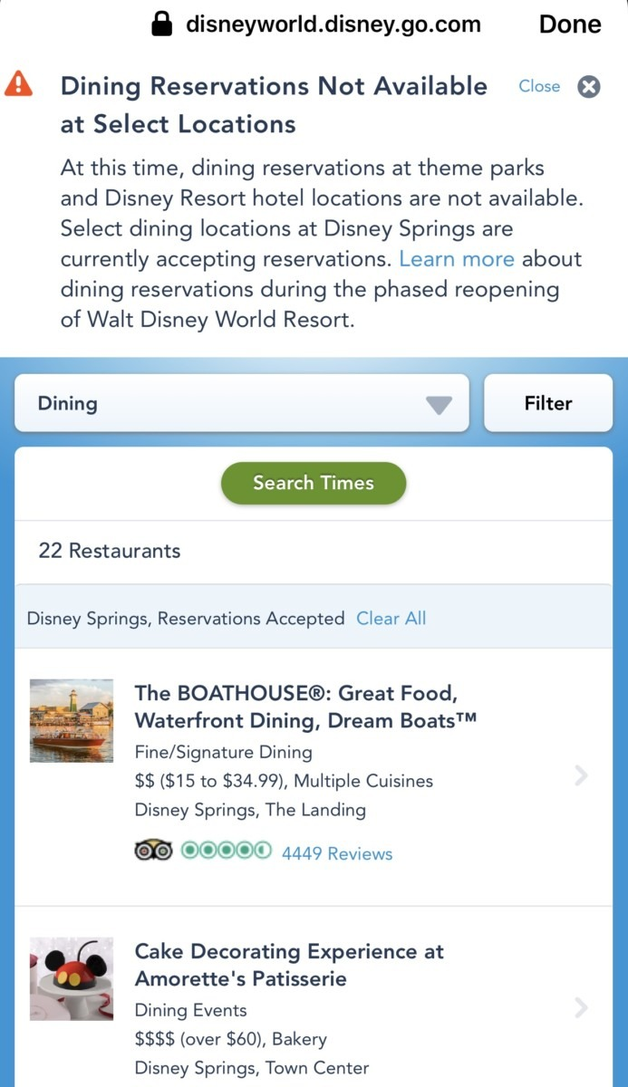 Dining Reservations Open at Select Locations at Disney Springs 2