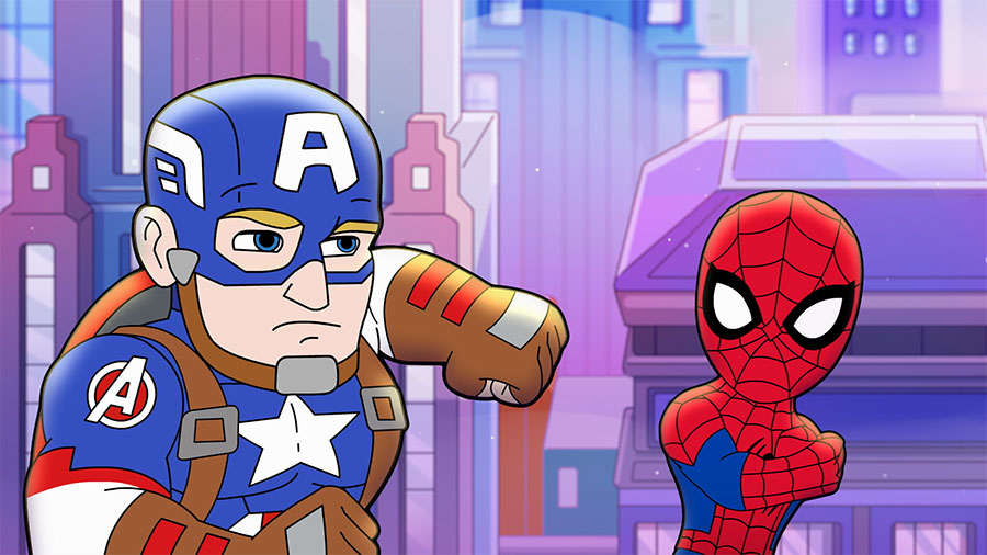 Spidey and Captain America