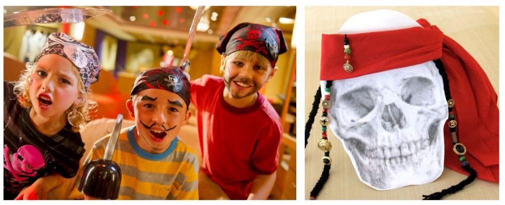 Kids on pirate night and a pirate bandana
