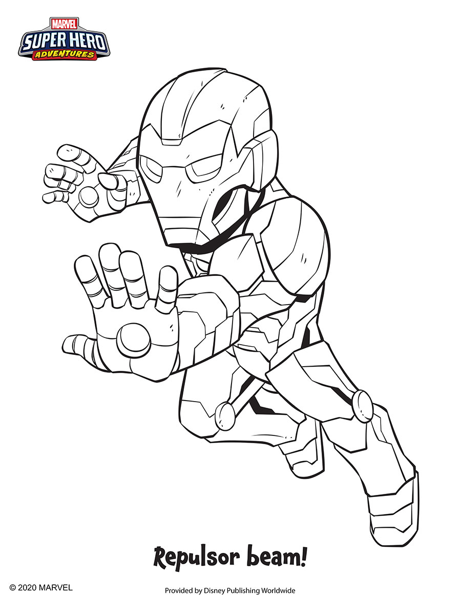 Iron Man Coloring Sheet