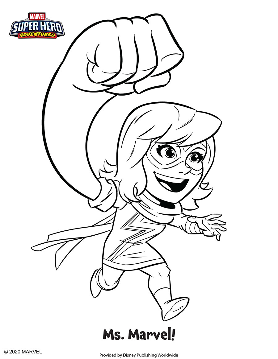 Ms. Marvel Coloring Sheet