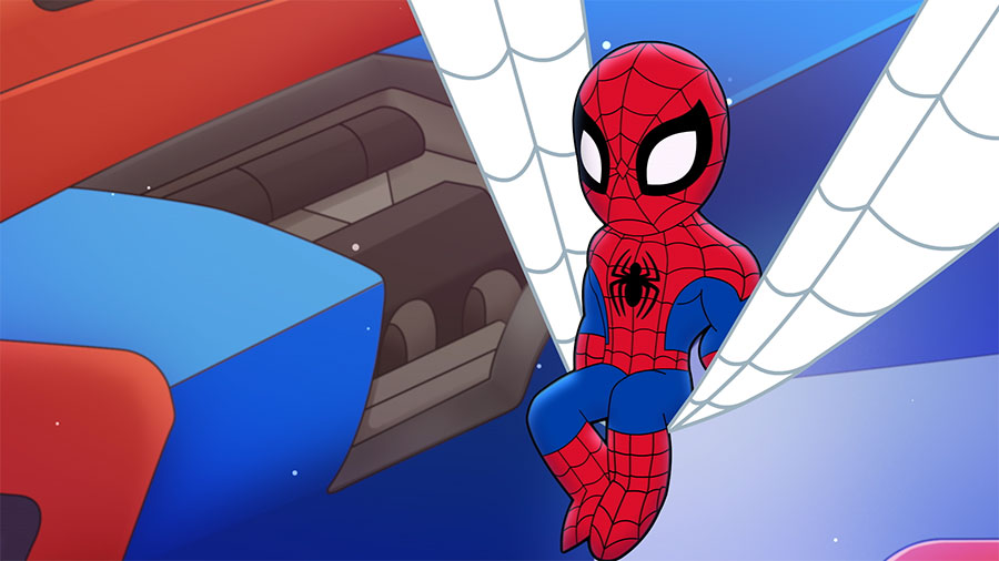 Spidey building a brand-new Web-Jet