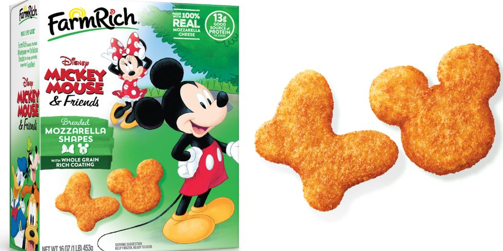 New Frozen Mozzarella Bites Shaped Like Mickey and Minnie Mouse 1