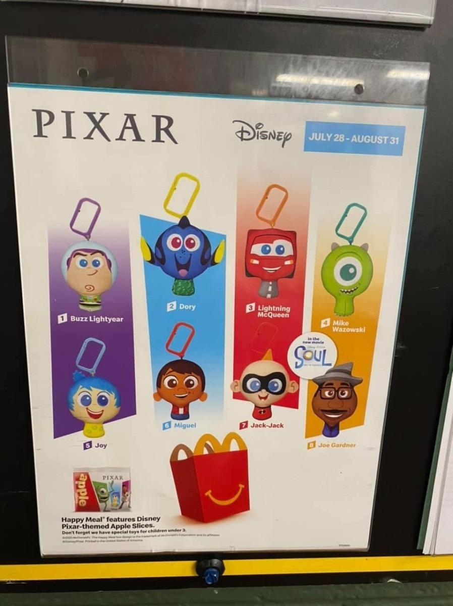 McDonald's Happy Meals Featuring Pixar Characters! 2