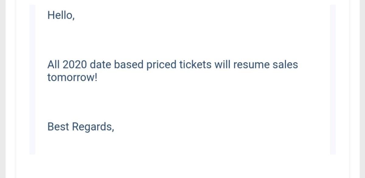 BREAKING NEWS: Walt Disney World Ticket Sales Begin Tomorrow 2