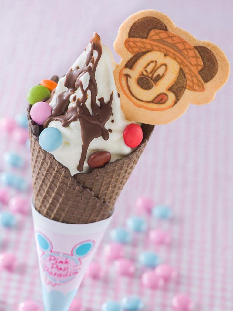 Soft-Serve Ice Cream from World Bazaar at Tokyo Disney Resort