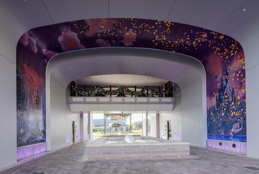 """Tangled""-inspired mosaic mural"