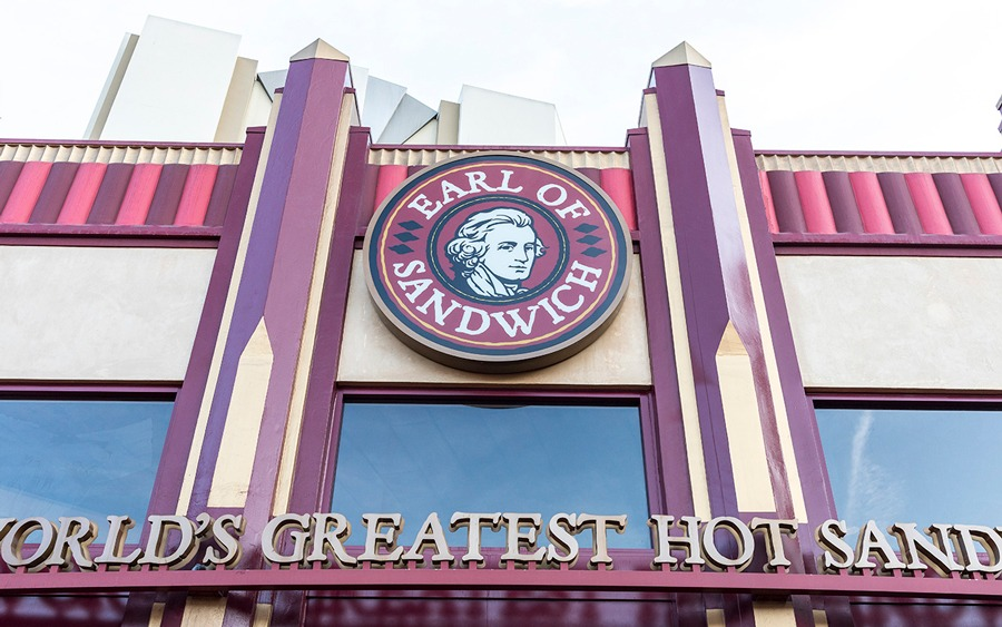 Earl of Sandwich exterior -Downtown Disney District at Disneyland Resort
