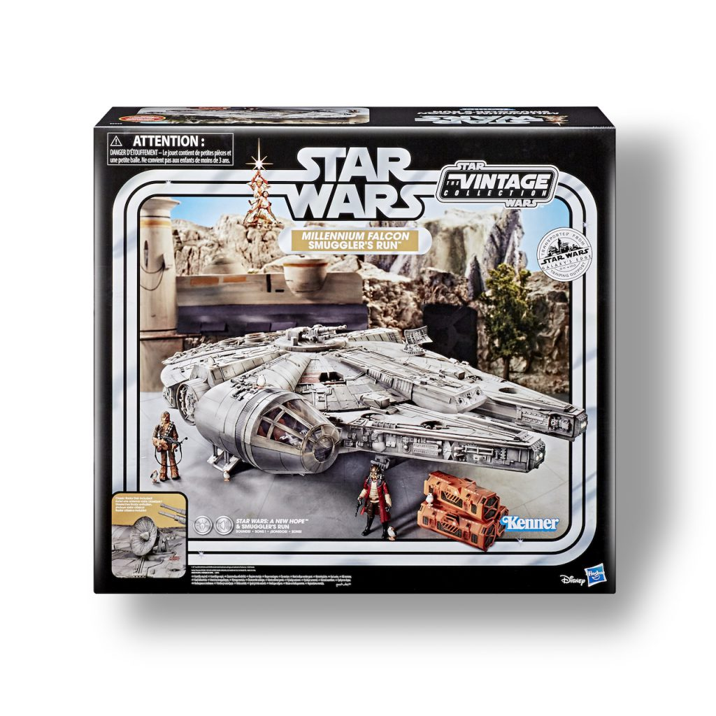 3.75-inch scale replica of the Millennium Falcon