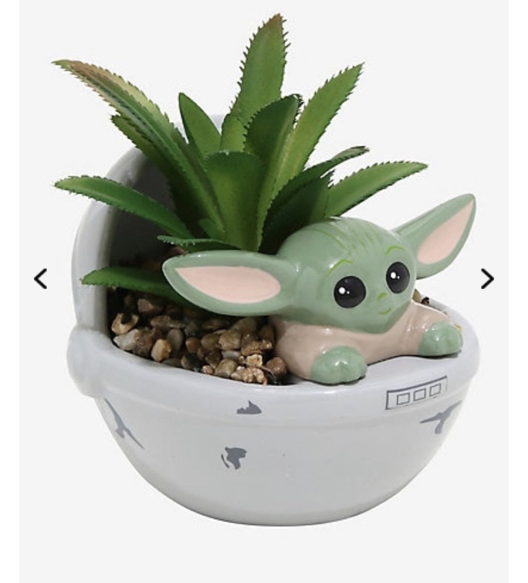 "Star Wars The Mandalorian ""The Child"" Faux Succulent Planter From BoxLunch! 1"