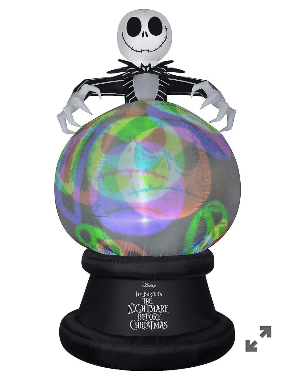 New Jack Skellington Inflatable Globe With Projections from Spirit Halloween 1