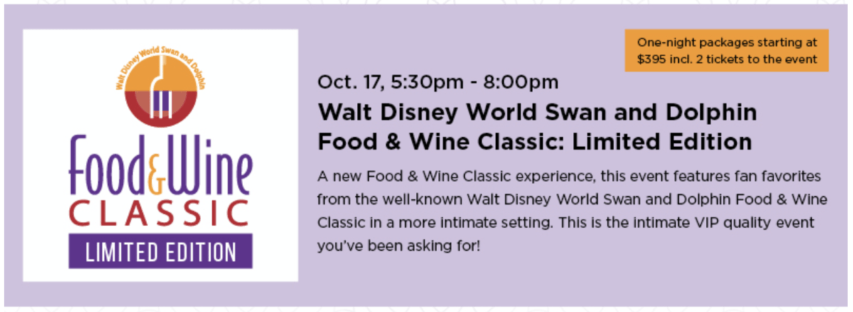 Walt Disney World Swan and Dolphin Resort announces new fall food and drink event series 6