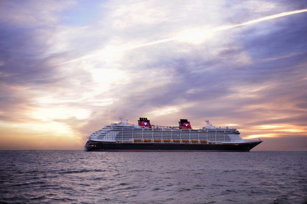 Disney Dream at sunrise