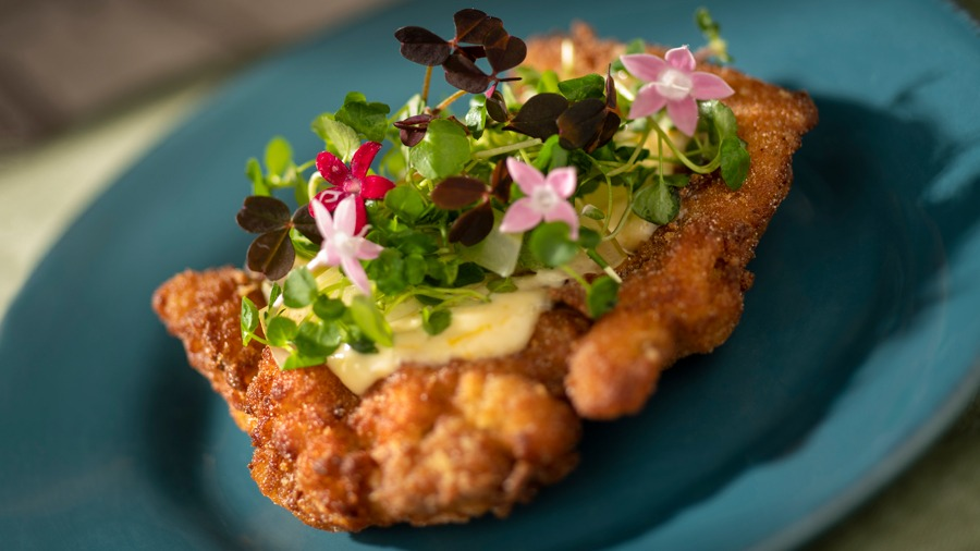 Crispy Citrus Chicken from The Citrus Blossom for the 2020 Taste of EPCOT International Food & Wine Festival