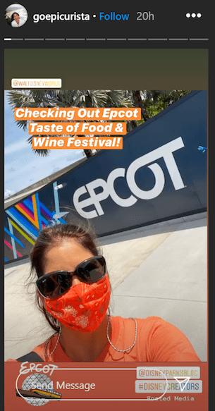 Instagram user goepicurista at the Taste of EPCOT International Food & Wine Fesitval